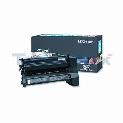 LEXMARK C770 PRINT CARTRIDGE BLACK RP 10K